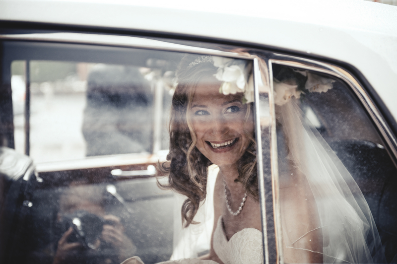 Harrogate bride arrives Wood Hall Hotel Wedding Photographer