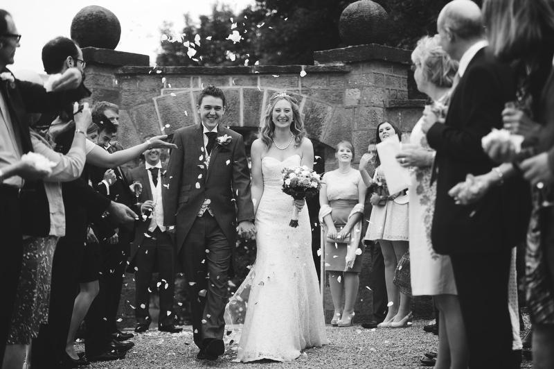 Confetti at Wood Hall Hotel Wedding