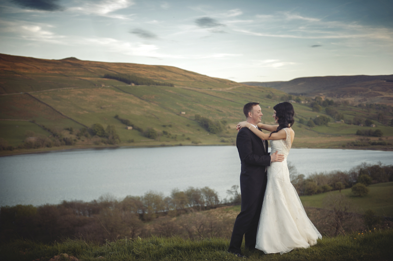 Bride and Groom portraits in The Yorkshire Dales