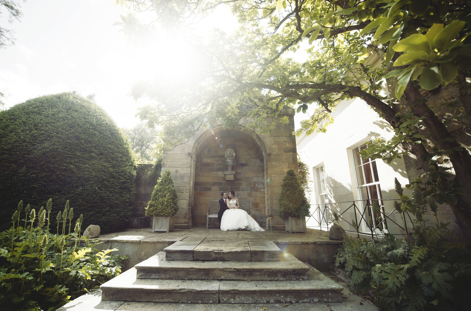 Rudding Park Harrogate Wedding Photos of Bride & Groom