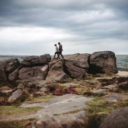Defiantly felt like autumn on Ilkley Moor this afternoon #preweddingphoto #engagementshoot #ilkleyweddingphotographer #yorkshirewedding #yorkshireweddingphotography #photooftheday #yorkshirebride #love #cowandcalfrocks #cowandcalfrocks