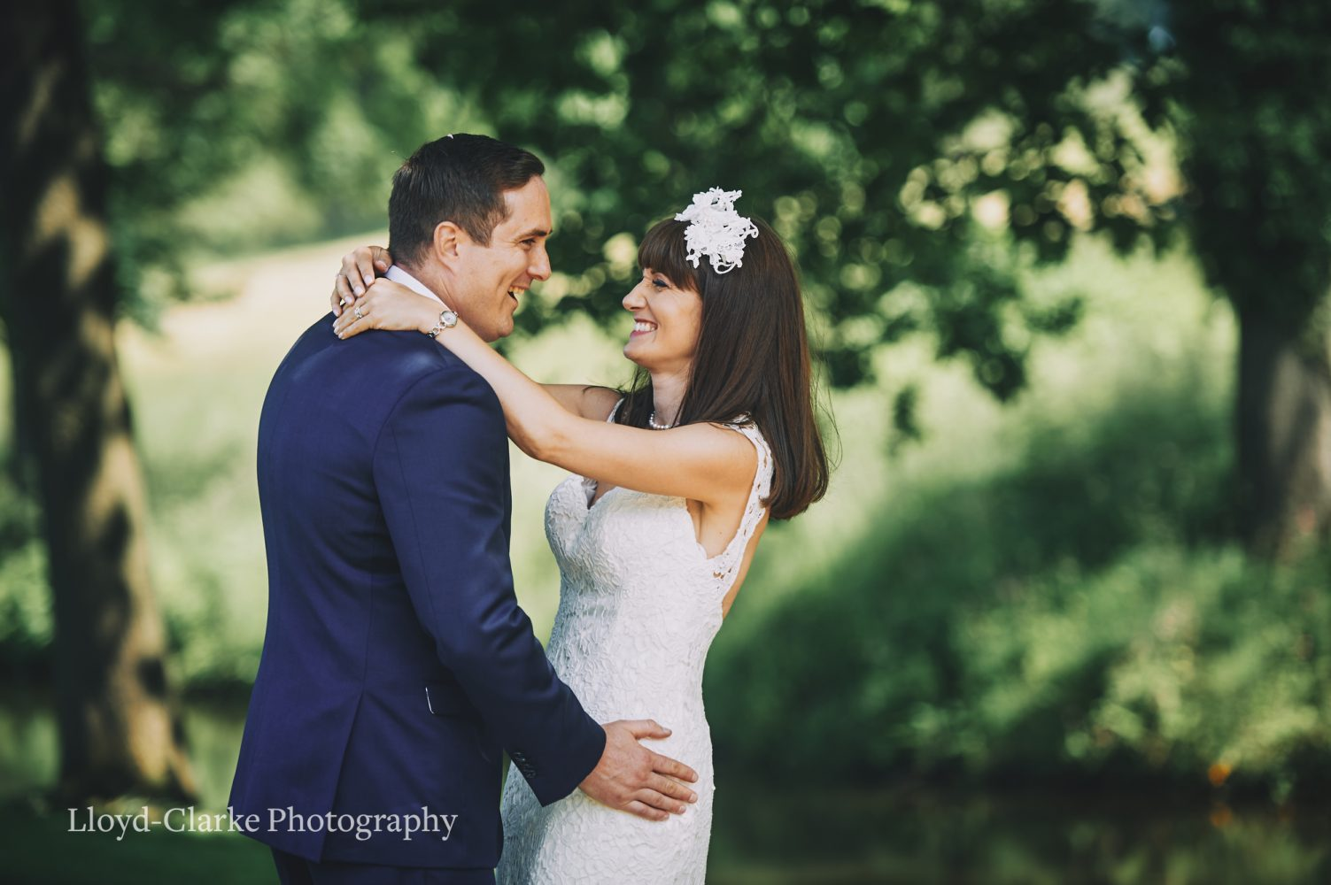 Bride and Groom at Grantley Hall Wedding