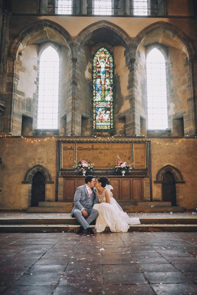 Bride and Groom Left Bank wedding Leeds