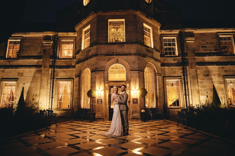Winter Wedding photography at Grantley Hall Ripon